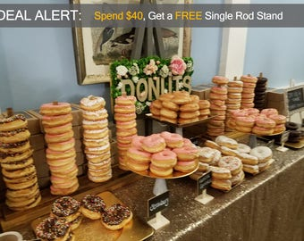 Donut Display Stand Holds 10-50 Donuts - Create Your Own Amazing Donut Bar