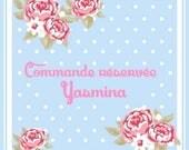Commande réservée Yasmina 12 boutons de meuble nuage en bois brut à peindre