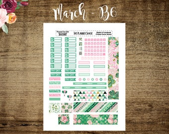 B6 TN March Monthly | Printable Planner Stickers | Planner Printables | Printables | Monthly | Monthly View | Annie Plans Printables