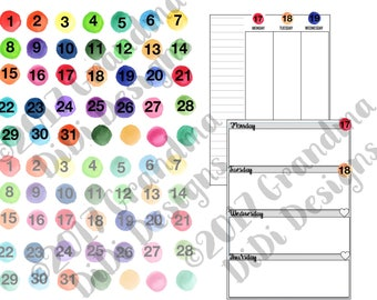 Watercolor Date Covers for Digital Planners in GoodNotes
