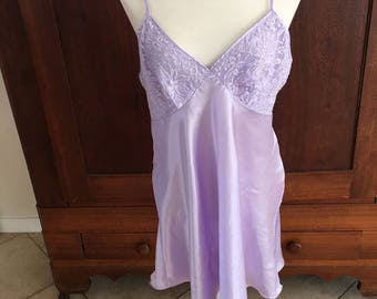 L / Lavender Purple Chemise Slip Dress/ Large