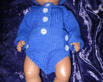 Hand knitted Bodysuit for Baby Reborn 16Inch