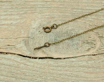 necklaces X 46cm 4 bronze metal chains