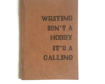 A6 or A5 Travel Notebook // Jotter // Handmade notebook // Kraft Notebook // Blank Journal // Travel Journal // Motivational Notebook