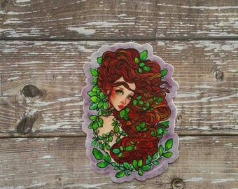 Ivy - 3 Inch Die Cut Weatherproof Vinyl Sticker / Decal (Inspired by Poison Ivy) for back to school planners gift stationery phone laptop