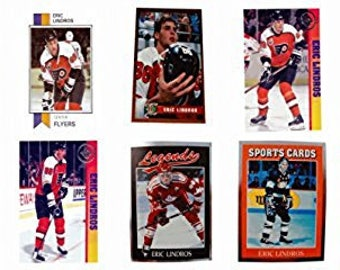 10 - Eric Lindros Odd-Ball Trading Card Lot
