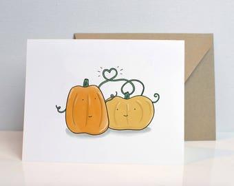 Pumpkin Love Blank Card