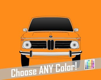 BMW 2002 Tii // Colorful Car Posters