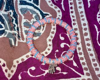 HAND MADE charm beaded bracelet