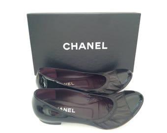 Chanel Black Ballerina Flats 39 size