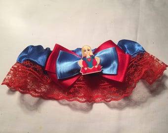 DC Supergirl Wedding Garter - Handmade