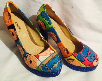 Family Guy / Peter Griffin shoes / heels* * * uk sizes 3-8 * * *