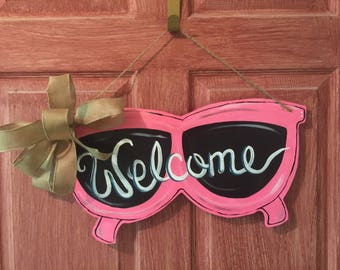 Sunglass Wooden Door Decor