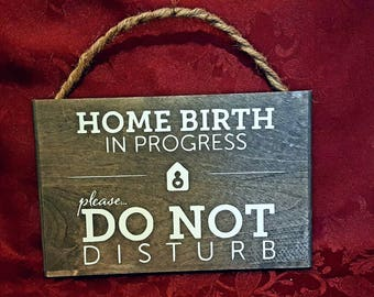 Homebirth sign