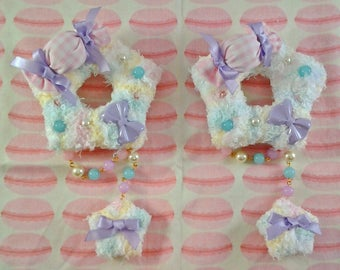 Rainbow Cotton Candy Fluffy Sweet Star Two-Way Hair Clip/Pin