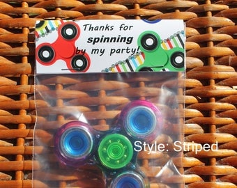 Fidget Party | Fidget Party Bags |Spinner Party | Fidget Favor | Fidget Spinner | Fidget Birthday | Spinner Birthday Treat Bags - Qty 12