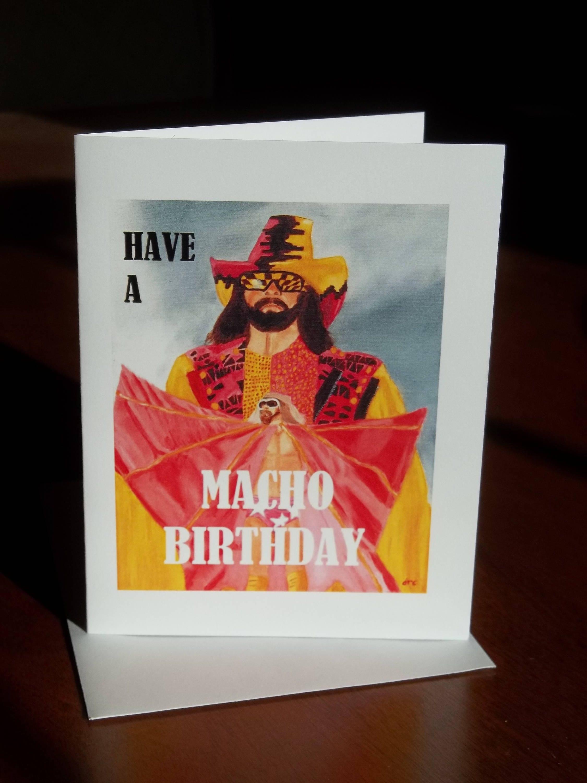 Macho Man Randy Savage Birthday Card Wrestling Cards – Wrestling Birthday Cards