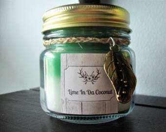 Coconut Lime Verbena Scent Jar Candle