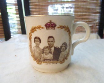 Royal Family Commemorative Cup for the Coronation of George VI - George 6th  (1937)