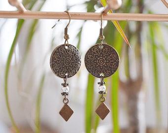 """""""Mandala Pendant diamond"""" earrings"""