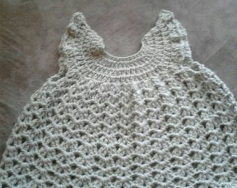 crochet dress, wool dress, crochet wool dress, handmade dress, baby girl dress, mint green dress, mint dress