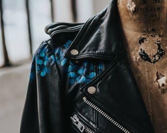 Hand-Painted Vintage Hein Gericke Biker Jacket