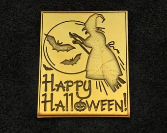 Halloween Magnets - The witch on a broomstick - Happy Helloween - All Hallows' Eve - All Saints' Eve