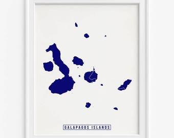 Galapagos Islands Print, Galapagos Islands Poster, Galapagos Islands Map, Street Map, Ecuador, Map Print, Mothers Day