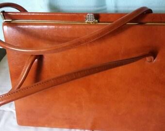 Vintage Tan 1960s Kelly Bag