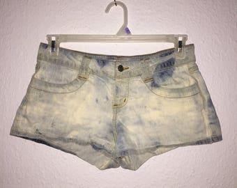 Custom Acid Wash Bleached Summer Shorts