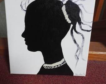 Woman in profile picture