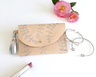 Vegetable Tanned Leather Coin Purse, Pouch, Wallet