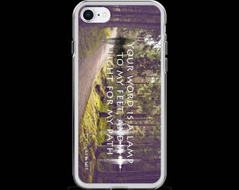 iPhone Case (Psalm 119;10) iPhone X, iPhone 8, iPhone 8 Plus, iPhone 7, iPhone 7 Plus, iPhone 6s, iPhone 6s Plus, iPhone SE