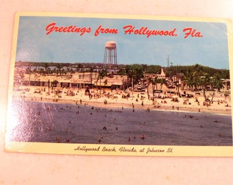 Vintage Post Card Hollywood, FL Greetings