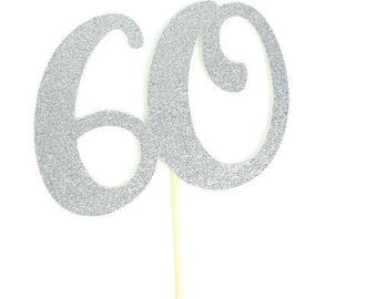 60 Cake Topper, Number Cake Topper, Birthday Cake Topper, Number Topper