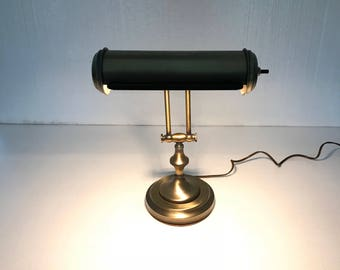 Brass Desk Lamp, Heavy Solid Brass Lamp, Adjustable Arm