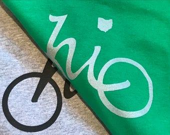 Ladies Ohio Bike T-shirt by Ohio Chicken Custom Tees