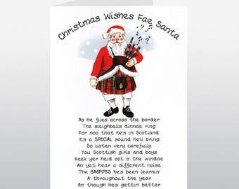 Christmas Santa in a Kilt Card WWXM57