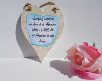 Because someone we love plaque, in loving memory,Rememberence sympathy gift, pet memorial, infant loss, angel baby keepsake