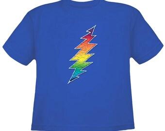 Grateful Dead Kids T-Shirt/ 13 Point Lightning Bolt/ 100% cotton Youth T/Toddler T/