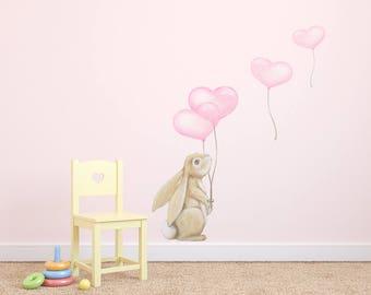 Rabbit wall decal   Etsy