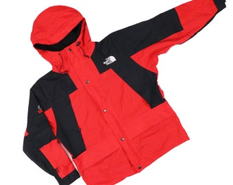 Vintage 90s The North Face Gore tex Color Block Jackets Hoodie Size S
