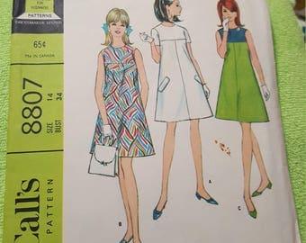 Vintage 1967 McCalls #8807 size 14