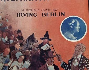"Irving Berlin ""That International Rag"" 1913 Sheet Music"