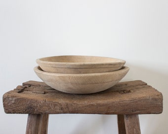 Vintage Wooden Bowls (set of 2)
