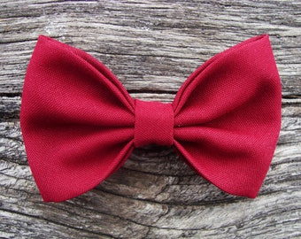 Bow tie Burgundy brooch