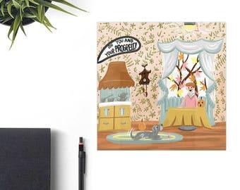 Carousel of Progress Disney Art Print, Disney Christmas Gift, Retro Disney Parks, Co-Worker Christmas Gift Idea, Disney Lover Gift