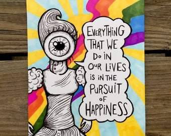 Pursuit of happiness (5.5x8.5 original)