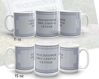 """JW.ORG  branch series . """"Educational center """" bethel branch gifts. 11 oz or 15 oz."""
