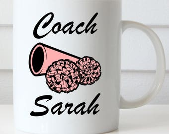 Cheer, Dance or Wrestling Coach Coffee Mug, Coach Gifts, Athletic Coach Mugs, Gift Mugs for Coaches
